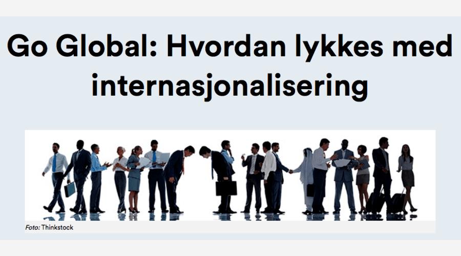 Go Global: Hvordan lykkes med internasjonalisering