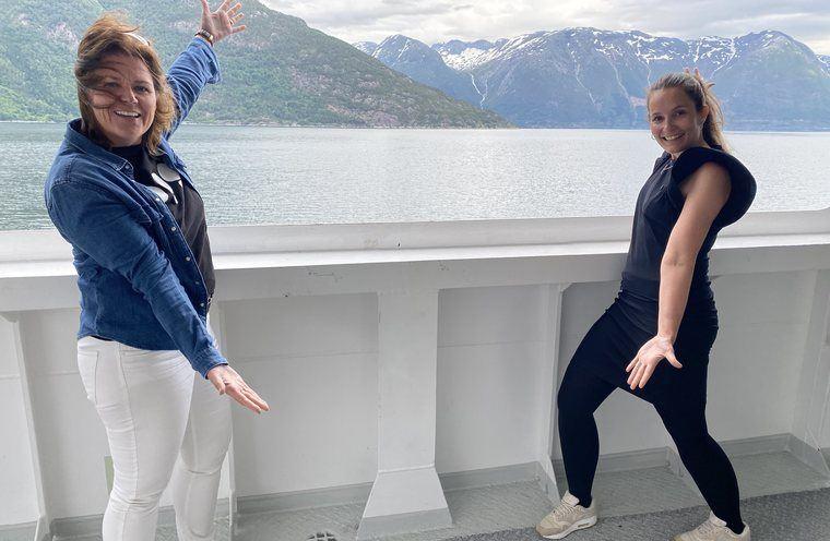 Team OPPtur på reise i Ullensvang og Voss