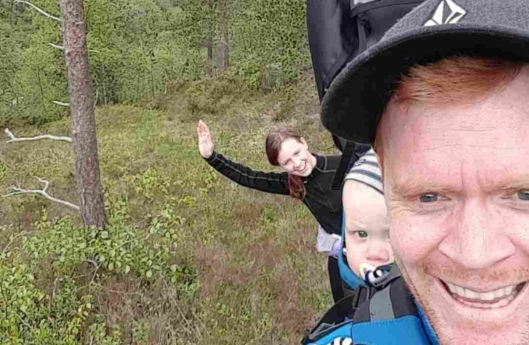 Andreas tester ut turløypene på Vestlandet